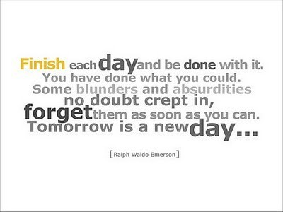 finish each day and be done with it emerson essay
