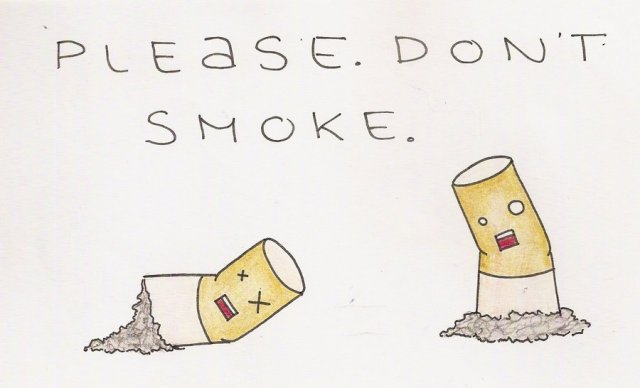 Please don't smoke graphic.